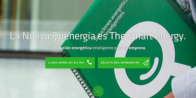 Landing page Quenergia