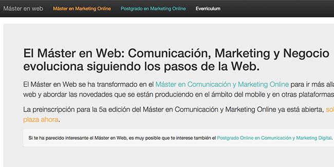 Redesign Masterenweb