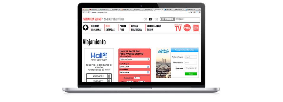 banner Primaverasound Airbnb