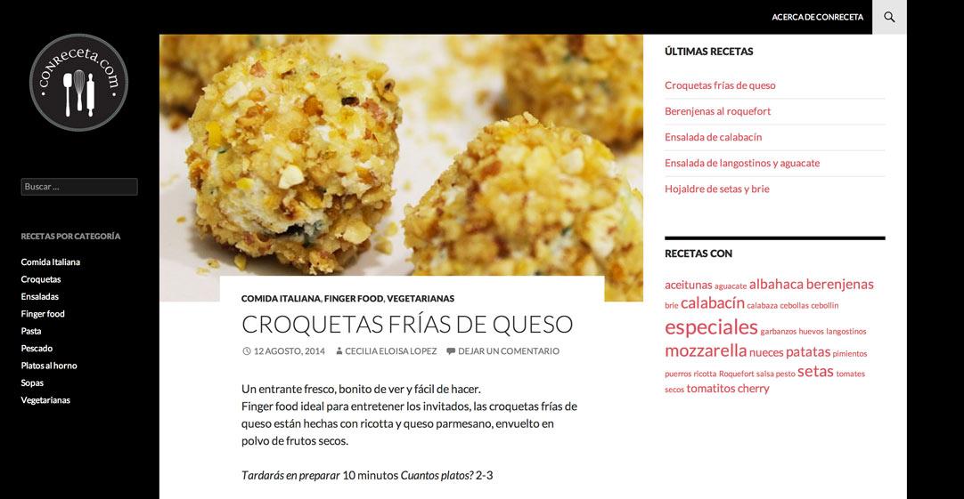 Blog de recetas - página receta