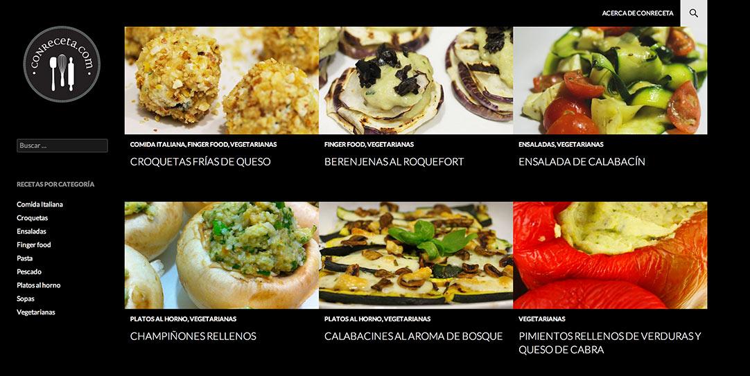 Blog de recetas home page