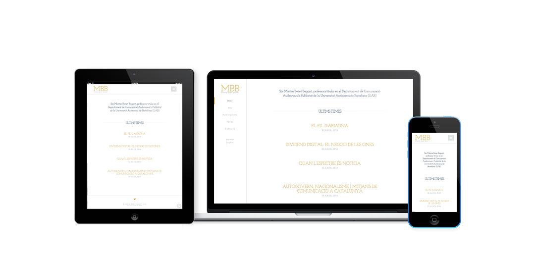Diseño web Montse Bonet